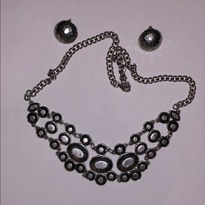 Jewelry: Hammered Necklace & Earring Set
